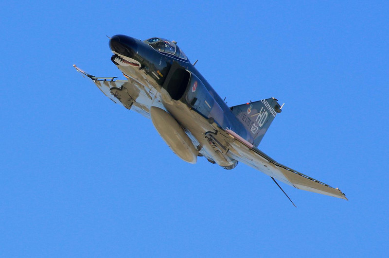 F4 Phantom, the most popular jet of the Vietnam era. A fuel guzzing but tough fighter plane.