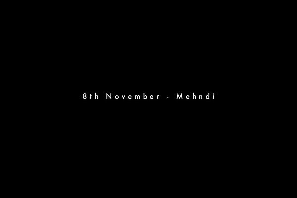 8th Nov- Mehndi