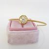 .95ctw Octagon Diamond Mosaic Bangle, Yellow Gold 7