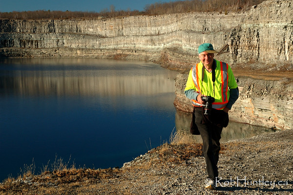 My friend Bruce, adding scale to the vast size of the mine. Marmora Iron Mine, Marmora, Ontario.  © Rob Huntley