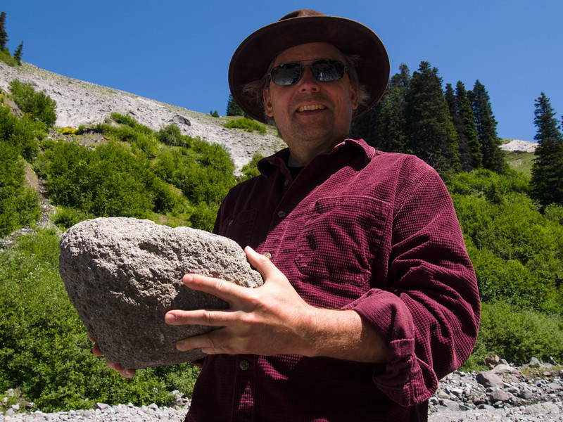 Rocks are lighter than they appear....