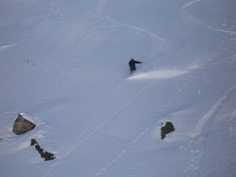 Jamey carving some sweet turns