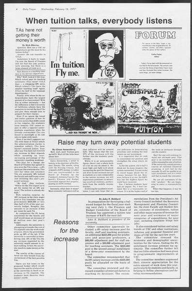 Daily Trojan, Vol. 71, No. 7, February 16, 1977