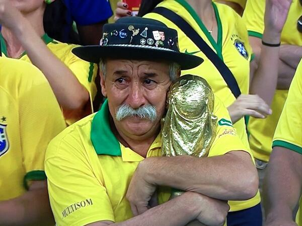 """. <p><b> World Cup history was made during the semifinals on July 8 when � </b> </p><p> A. Germany beat Brazil by six goals </p><p> B. Miroslav Klose scored his 16th career goal </p><p> C. 200 million Brazilians lost the will to live </p><p><b><a href=\""""http://www.twincities.com/sports/ci_26110962/germany-leads-brazil-5-0-at-halftime-at\"""" target=\""""_blank\"""">LINK</a></b> </p><p>   (Screen grab from YouTube)</p>"""