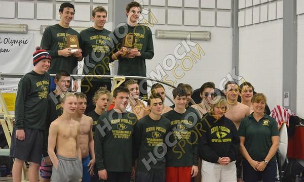 Hockomock Boys Swim Championships 2-7-16