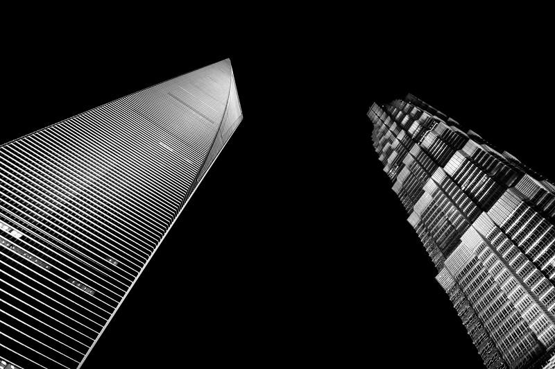 Shanghai World Financial Center and Jin Mao Tower, Shanghai, China