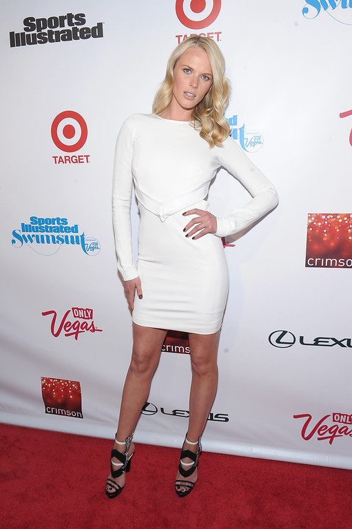 . NEW YORK, NY - FEBRUARY 12: Model Anne V attends as Sports Illustrated celebrates SI Swimsuit 2013 with a star-studded red carpet kickoff event at Crimson on February 12, 2013 in New York City.  (Photo by Michael Loccisano/Getty Images for Sports Illustrated)
