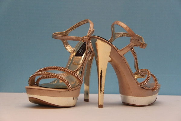 Camille Gold High Heels