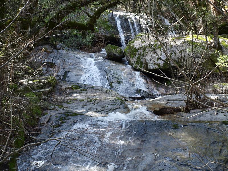Bass Lake waterfall 1