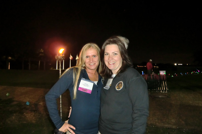 Membership and Chapter Relations Director Kimmy Livingston and Executive Director Nicole Ratner at the Welcome Reception & Night Golf