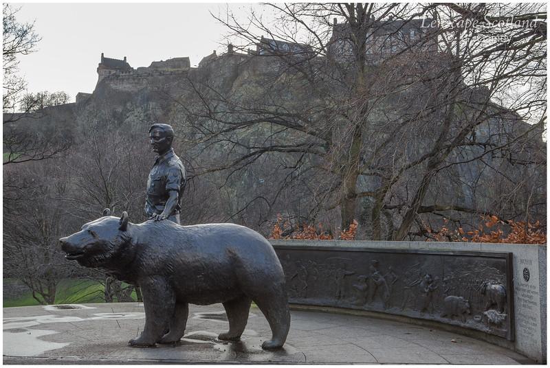 Wojtek the bear statue, West Princes Street Gardens (1)