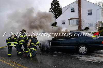 Massapequa F.D. Vehicle Fire Camp Rd. & Joyce Ave. 1-28-2014