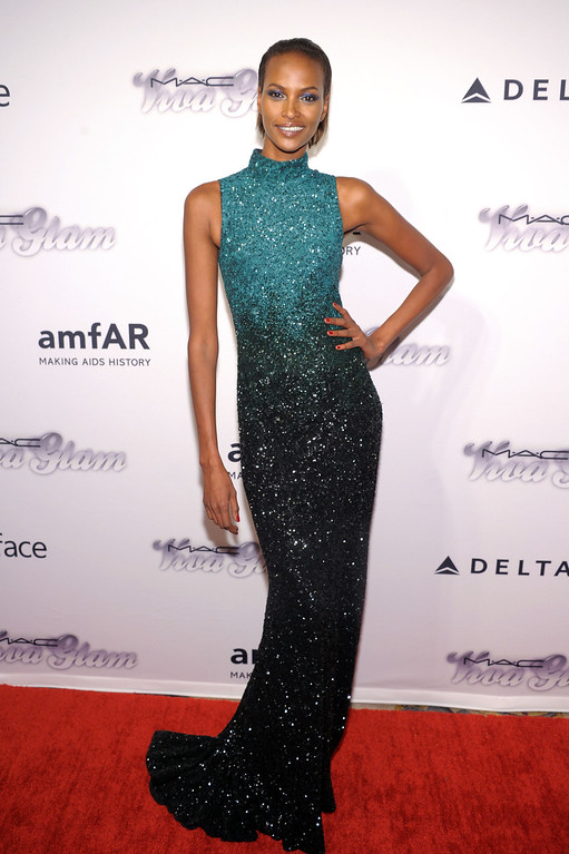 . NEW YORK, NY - JUNE 13: Model Yasmin Warsame attends the 4th Annual amfAR Inspiration Gala New York at The Plaza Hotel on June 13, 2013 in New York City.  (Photo by Michael Loccisano/Getty Images)