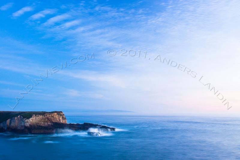 Monterey peninsula in haze #2