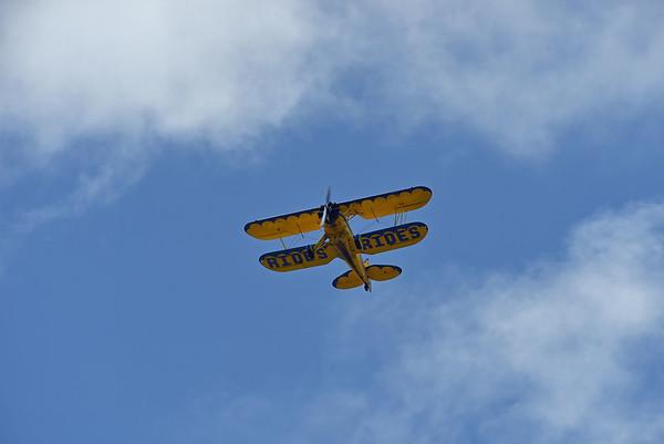 Biplane over Jekyll Wharf 07-24-20