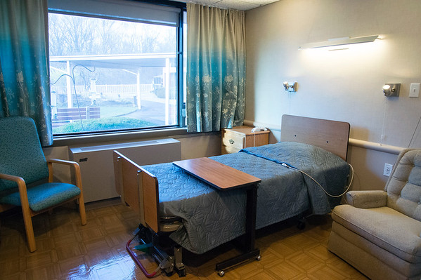 02/19/20 Wesley Bunnell | StaffrrA single bedroom at Monsignor Bojnowski Manor which features both long term and short term skilled nursing care.