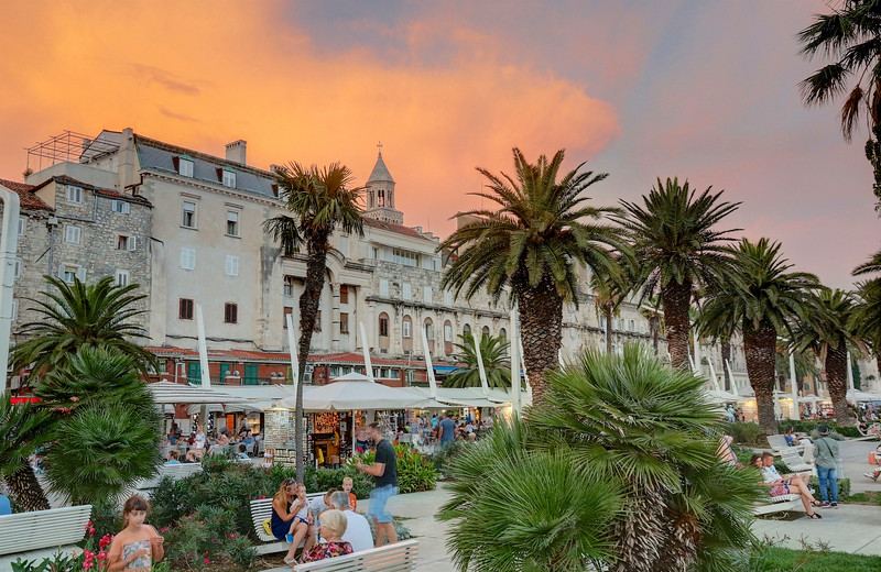 Split is truly unique, with its blend of ancient and modern as dozens of bars, restaurants and shops thrive amid the atmospheric old walls of Diocletian's Palace which dates from the 3rd century.