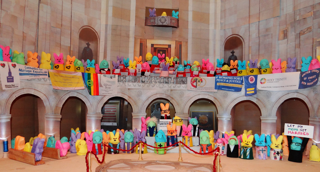 ". <b>HONORABLE MENTION:</b> ""Peeps Rally - Freedom to Marry,\"" by Peggy Walker, River Falls, and Jim Hesley, Woodbury."
