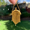 Victorian Gold Mesh Purse Charm/Pendant 0