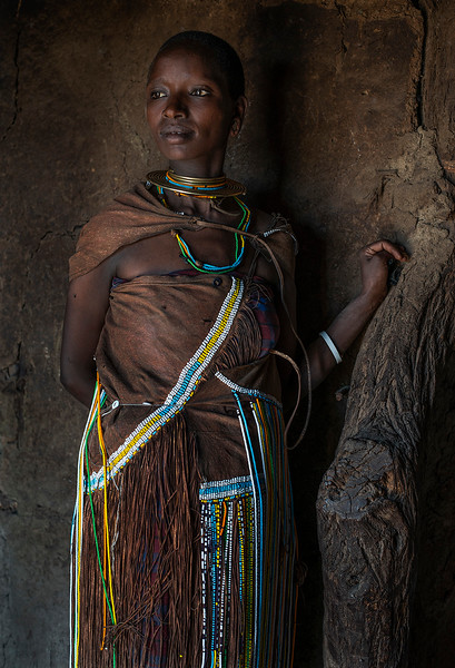 Portrait of a Datoga woman.  Lake Eyasi, Tanzania, 2019