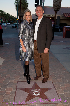 Jim Casey's Star on the Palm Springs Walk of Stars Ceremony