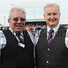 Adjudicators John McCarlie and Colin Moffett pictured at the North West Pipe Band & Drum Majors Championships at Portrush on Saturday 22nd August.