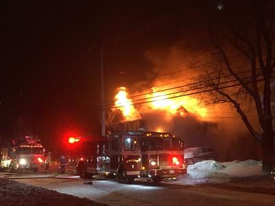 2-alarm fire at 29 Andover Road in Billerica - Jan. 21, 2019