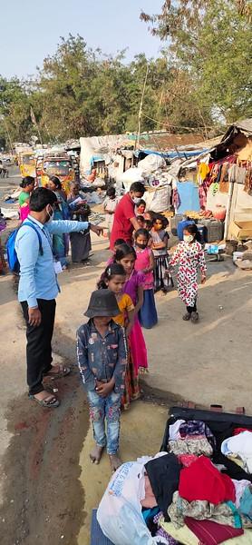 Awareness Camp on Covid-19 Pandemic at Gajularamaram Slum
