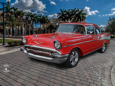 1957 Chev Red Bel Air RT