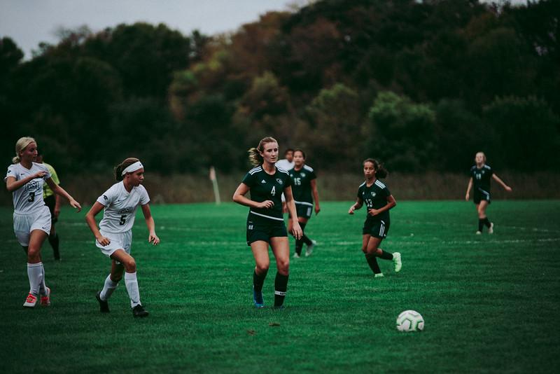 Holy Family Girls Varsity Soccer vs. Glencoe-Silver Lake, 9/24/19: Ella Haley '20 (4)