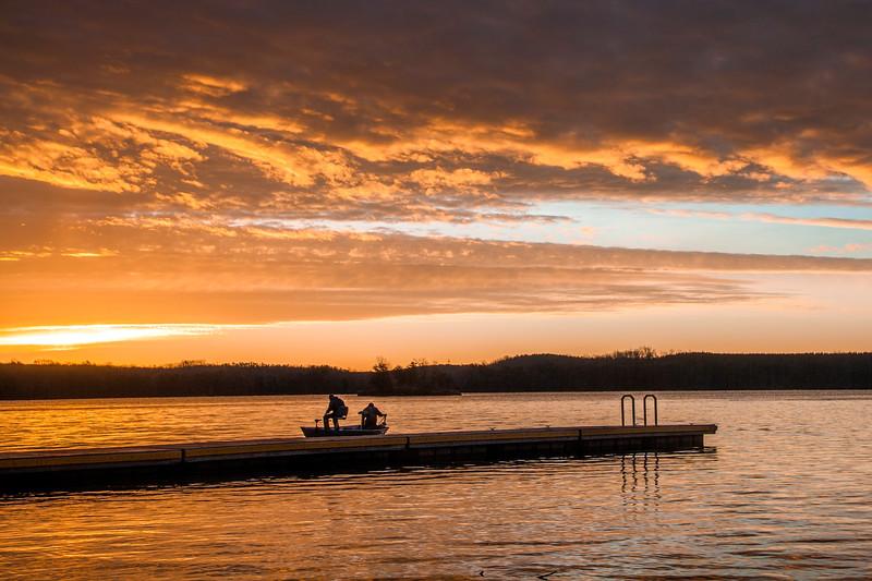 Fishing at Belews Lake