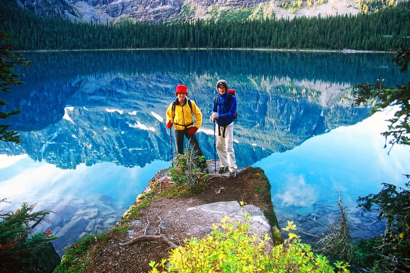 Early Mountaineering Explorers at  Lake O'Hara