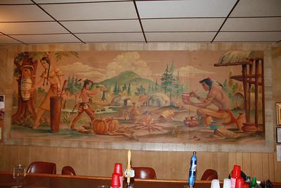 Painted Indian Mural, Elks Lodge, Tamaqua (1-20-2012)