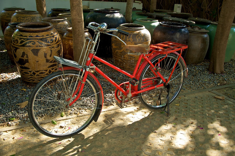 Classic red bicycle..jpg