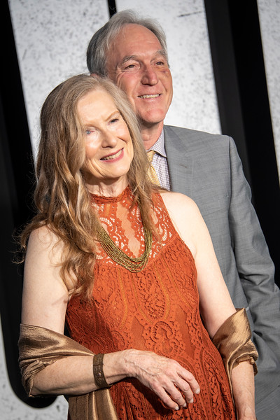 """HOLLYWOOD, CALIFORNIA - SEPTEMBER 28: Frances Conroy and Jan Munroe attend the premiere of Warner Bros Pictures """"Joker"""" on Saturday, September 28, 2019 in Hollywood, California. (Photo by Tom Sorensen/Moovieboy Pictures)"""