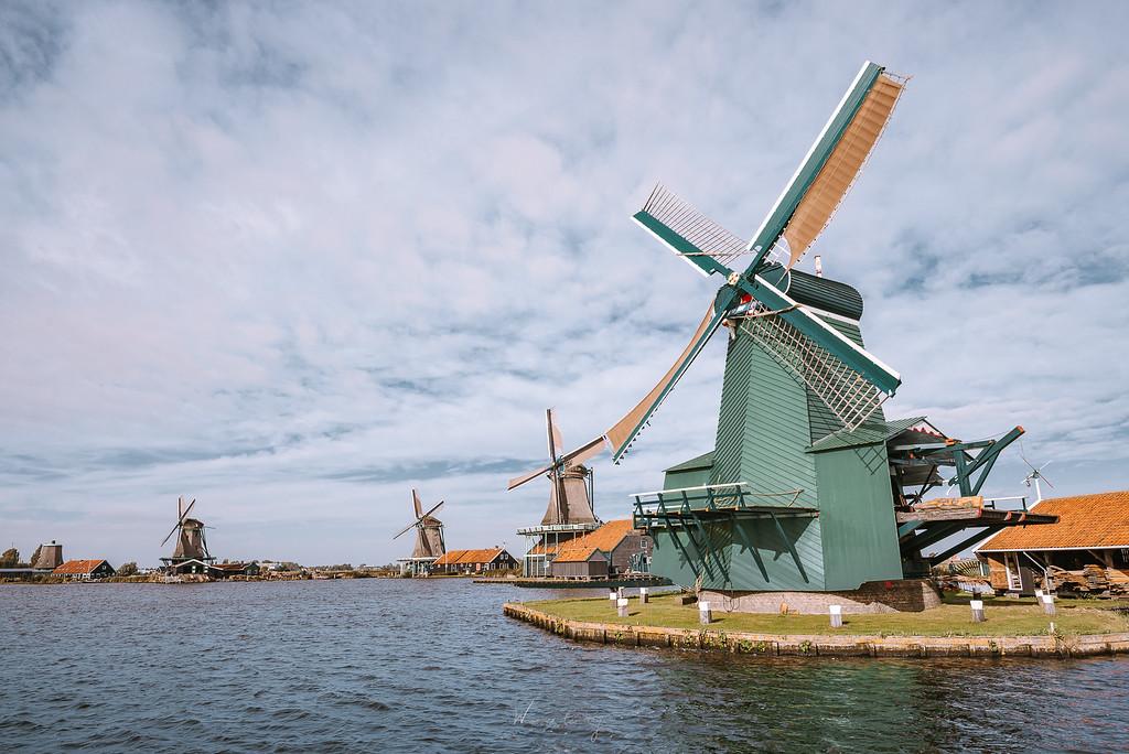 贊丹 與 風車村 Zaanse Schans 西歐最早工業化的聚落
