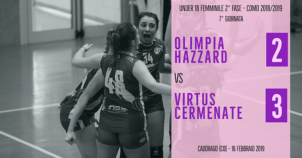 CO-U18f-2f: 7^ Olimpia Hazzard - Virtus Cermenate