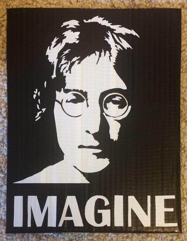 . Artwork by Jani Reddick John Lennon of The Beatles