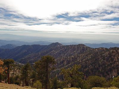 Mount Lewis, Mount Hawkins, and Copter Ridge from Dawson Saddle  - Angeles National Forest 1.25.14