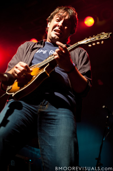 Jeff Austin of Yonder Mountain String Band performs on February 5, 2011 at Jannus Live in St. Petersburg, Florida