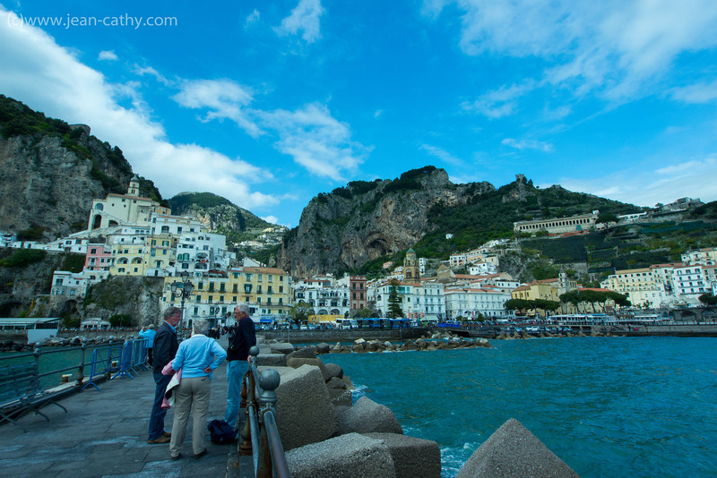 Amalfi Italy. View from the pier