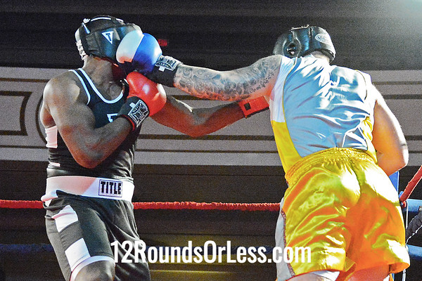 Bout #14 - Jeff Hughes, Evolve MMA -Canton, OH  vs  Alante Green, Empire Boxing Club, Cleveland,  Heavy - Novice