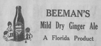 Beeman's Ginger Ale Orlando Sentinel 12 July 1924 p 2.jpg