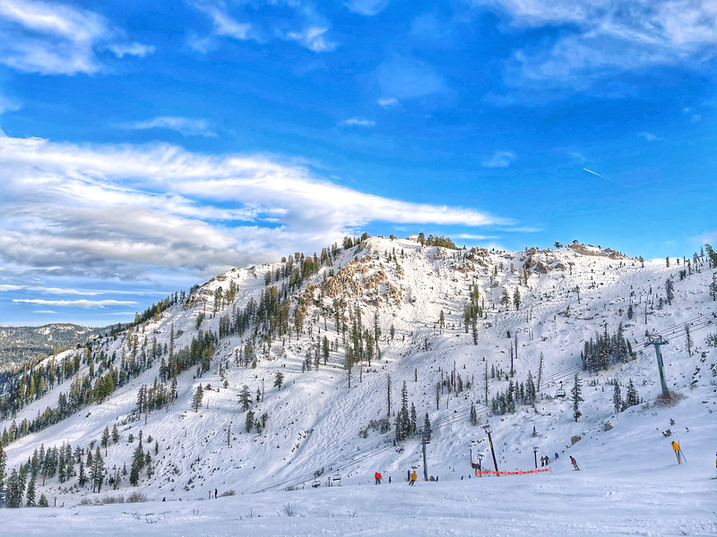 Squaw Valley KT22 Back side from the Mountain run