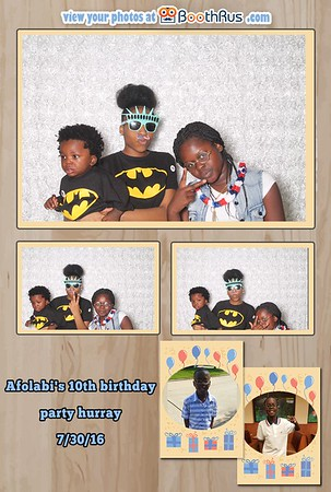 Afolabi's 10th Birthday Party 7-30-16
