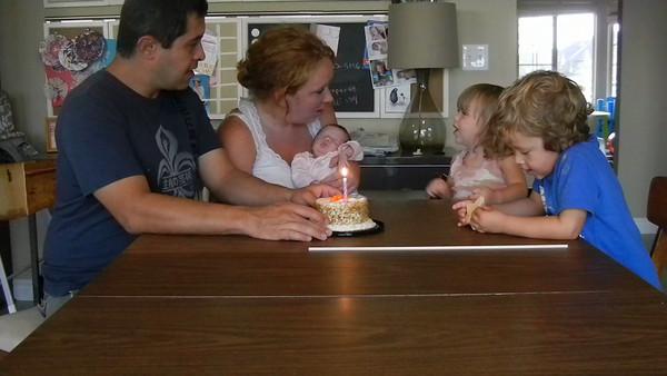 Nora Cain - 1 week birthday