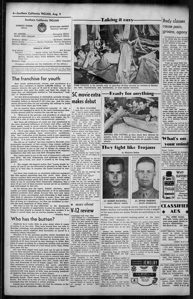 Southern California Trojan, Vol. 35, No. 16, August 09, 1943