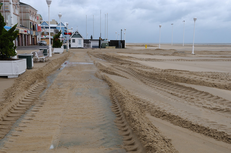 """Not really that much sand on the boardwalk, """"minor"""" I would call it."""