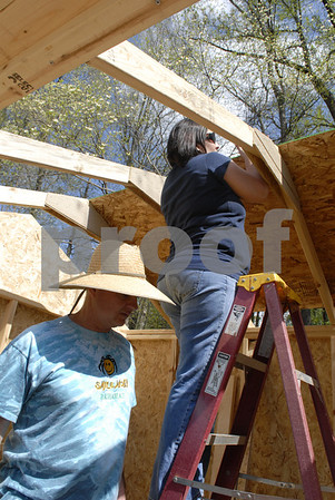 Habitat for Humanity Builds Shed - April 2013