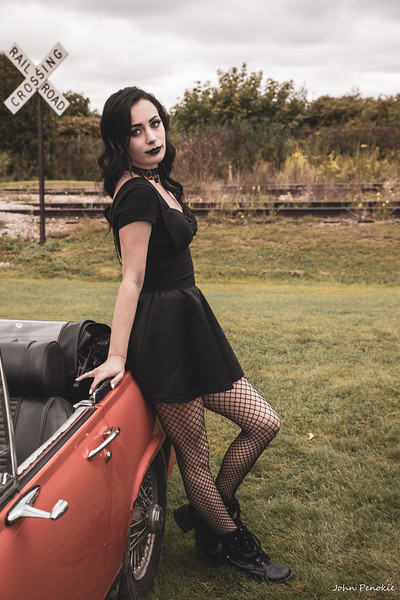 Event: Monsters Model Motars (MMM) 2019  Model: Abby Ingebrigtson Hair: Tarrah Jones MUA: Alicias Makeup Artistry & Designs - Alicia Odonnell SFX MUA:  Car Year: 1971 Make: MG Model: Midget Owner: Terry Ambrosius